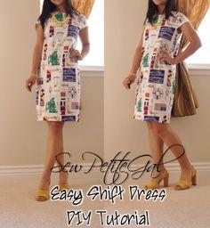 SewPetiteGal: Easy Shift Dress DIY Tutorial