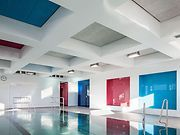 Geschwister-Scholl-School, Worms (GER) Photographer: © Daniel Vieser In the swimming pool wall elements and doors were developed as all-glass constructions, in which the necessary fittings are reduced to a minimum, in order to achieve as undisturbed glass surfaces. #architecture #design #building #ArchitectureDesign #Smartandsecureaccesssolutions #TrustedAccess #dormakaba #glassfittings #UNIVERSAL