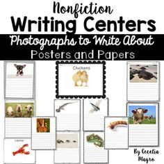 104 Pages Full Of Stunning Animal Photographs For Students To Write About Each The