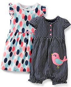 Carter\'s Baby Girls\' 2-Pack Romper & Dress Set - Kids - Macy\'s