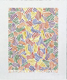 #JasperJohns Cicada Screenprint using the Crosshatch motif, Collection Walker Art Center, Edition of 100 plus 10 AP's; this impression AP. 3/10.