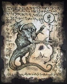 Cthulhu LARP Rlyeh Text Lovecraft Monster Necronomicon Demon Magick Occult Art | eBay