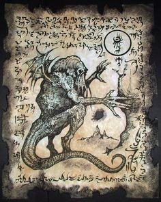 Cthulhu LARP Rlyeh Text Lovecraft Monster Necronomicon Demon Magick Occult Art | eBay