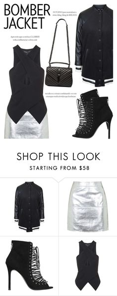 """King Kylie"" by igedesubawa ❤ liked on Polyvore featuring Topshop, Kendall + Kylie, Yves Saint Laurent, contest, bomberjacket, KylieJenner, contestentry and polyvorecontest"