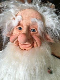Elf Christmas Decorations, Teddy Bear Sewing Pattern, Santa Doll, Santa Face, Polymer Clay Dolls, Disney Fan Art, Fairy Dolls, Soft Sculpture, Whimsical Art