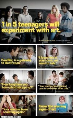 1 in 5 teenagers will experiment with art. know the warning signs.