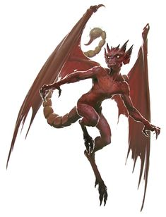 Devil, Imp (from the fifth edition D&D Monster Manual). Art by Slawomir Maniak.