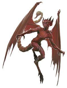 Devil, Imp (from the fifth edition D&D Monster Manual). Art by Slawomir Maniak.
