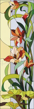 Stained glass window with gladioli - Stock Vector , Stained Glass Quilt, Stained Glass Flowers, Stained Glass Patterns, Stained Glass Windows, Window Glass, Victorian Christmas Decorations, L'art Du Vitrail, Decorated Wine Glasses, Gladiolus