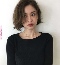 Cute Bob Cuts for a New Look The moment you think about cutting your hair short decide on the hairstyle. You dont have to spend time researching what would suit you especially if youre okay with any hairstyle. Because the bob cut is enough to give you. Modern Bob Hairstyles, Bob Hairstyles For Fine Hair, Medium Bob Hairstyles, Hairstyles Haircuts, Korean Hairstyles, Teenage Hairstyles, Casual Hairstyles, Fancy Hairstyles, Professional Hairstyles