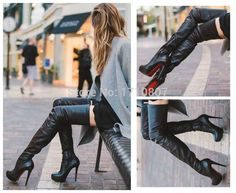 leather thigh high boots - Google Search