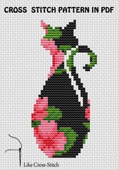 Easy Cross Stitch Patterns, Small Cross Stitch, Cute Cross Stitch, Cross Stitch Flowers, Cross Stitch Designs, Loom Patterns, Cross Stitching, Cross Stitch Embroidery, Cross Stitch Numbers