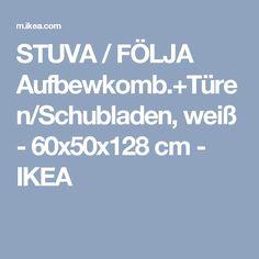 STUVA / FÖLJA Aufbewkomb.+Türen/Schubladen, weiß - 60x50x128 cm - IKEA