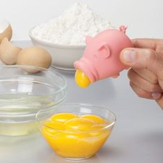 YolkPig Egg separator Silicone Peleg Design Pink Great gift Kitchen Gadget, Egg Yolk Out Separators cooking easy tools,Pink Pig design Pig Kitchen, Cute Kitchen, Funny Kitchen, Crazy Kitchen, Awesome Kitchen, Kitchen Sink, Kitchen Dining, This Little Piggy, Little Pigs