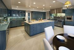 Amazing kitchen with an immense island