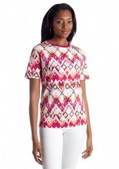 Kim Rogers  Tribal Print Knit Top