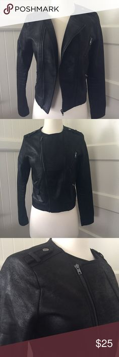 """Haute Monde Jacket Haute Monde Black Jacket  • Looks adorable zipped or unzipped  • Slightly cropped, 16"""" shoulder to bottom hem, 22.5"""" sleeve  • Purchased new & worn 3 times, in excellent used condition, no signs of wear  • Fits true to size small  Bundle discount: 15% off 2 or more items. Reasonable offers considered. No trades please ✨ Haute Monde Jackets & Coats"""