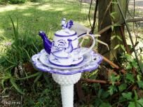 Blue & White Teapot Garden Art
