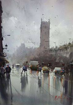 Joseph Zbukvic watercolor: