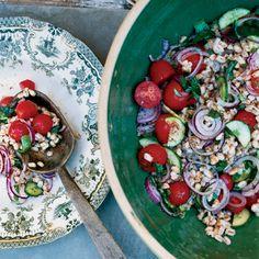 Summer Farro Salad // More Fantastic Farro Salads: http://www.foodandwine.com/slideshows/farro-recipes #foodandwine
