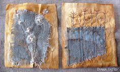 Winter Garden Tea Bag Art by Velvet Moth Studio