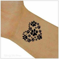 Tattoo 2 paw heart wrist tattoos body art ultra thin and realistic . - Tattoo 2 paw heart wrist tattoos body art ultra thin and realistic tattoo. You will receive 2 wrist - Dog Tattoos, Animal Tattoos, Temporary Tattoos, Body Art Tattoos, Small Tattoos, Tatoos, Paw Print Tattoos, Fake Tattoos, Sister Tattoos