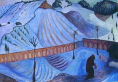 Marianne von Werefkin - Woman with lantern (1910)