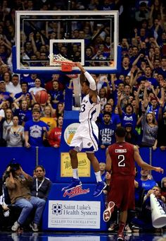 LAWRENCE, KS - JANUARY 06: Ben McLemore #23 of the Kansas Jayhawks dunks off a fast break during the last minute of the game against the Temple Owls at Allen Fieldhouse on January 6, 2013 in Lawrence, Kansas. (Photo by Jamie Squire/Getty Images)