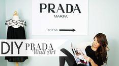 DIY Gossip Girl PRADA Wall Art xoxo ANNEORSHINE