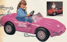 Power Wheels Barbie Corvette complete with phone! For little girls whose parents *really* loved them. Linz drove this and JC rode with her! 1980s Toys, Retro Toys, 90s Childhood, Childhood Memories, Barbie Power Wheels, Pink Corvette, Pound Puppies, Popular Toys, All I Ever Wanted