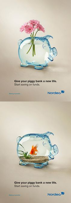 Clever Piggy Bank advertising.  #RePin by AT Social Media Marketing - Pinterest Marketing Specialists ATSocialMedia.co.uk