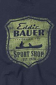 Eddie Bauer...when a man turns 30, it's usually a natural progession to start shopping at Eddie Bauer.  If you're still wearing Abercrombie and the like by the time you're 30...you're wrong.  Turn in your man card.