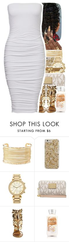 """White/Gold Contest"" by uniquee-beauty ❤ liked on Polyvore featuring Charlotte Russe, Case-Mate, MICHAEL Michael Kors, Michael Kors and Giuseppe Zanotti"