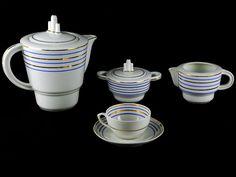 Serviço de Chá da Vista Alegre, Portugal Art Deco tea set