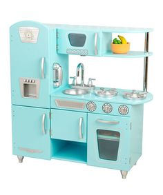 KidKraft Pink retro Wooden Play Kitchen and Refrigerator - Walmart ...
