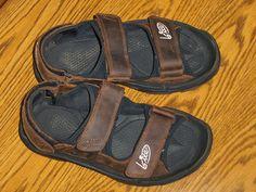 764f0e245d0 Mens Golf Sandals Kahuna Size 8 Bite Golf Sandals Brown Shoes 3101A