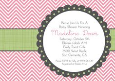 baby shower printables/invite with color scheme/prints of http://www.etsy.com/listing/121683740/pink-polka-dots-monogram-birthday?ref=shop_home_active