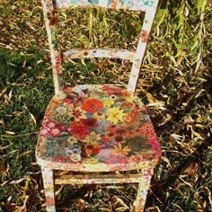 Decoupage Flower Chair