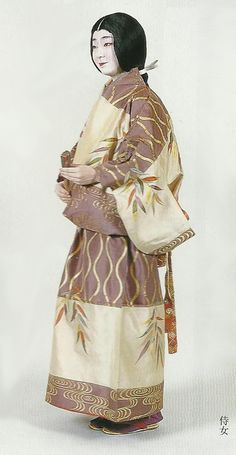 """Scan G2 : Scans from book """"The History of Women's Costume in Japan."""" Scanned by Lumikettu of Flickr. Exacting recreation of Japanese costume many centuries ago…"""