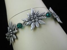 Edelweiss Bracelet with green stones