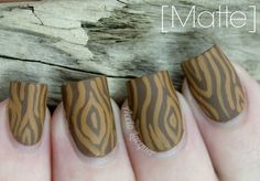 Wood Grain Nail Art