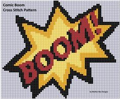 Thrilling Designing Your Own Cross Stitch Embroidery Patterns Ideas. Exhilarating Designing Your Own Cross Stitch Embroidery Patterns Ideas. Cross Stitching, Cross Stitch Embroidery, Hand Embroidery, Embroidery Designs, Cross Stitch Letters, Cross Stitch Heart, Logo Super Heros, Comic Boom, Pixel Art Templates