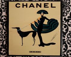 Vintage Chanel ad Coasters on ETSY.
