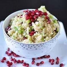 Pomegranate Quinoa Salad HealthyAperture.com
