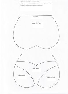 Bra and Panty card template