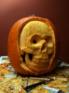 Some ideas to get your creative pumpkin carving juices flowing.