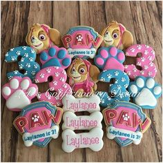 Close Up!! Paw Patrol #pawpatrol #pawpatrolcookies  #skye #skyecookies #birthdaycookies #kidsparty…