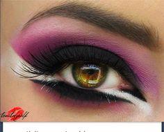 Unique eye makeup