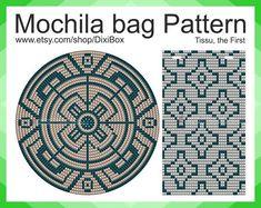 Wayuu Mochila bag Japan Tissu the First Tapestry Pattern/universal graphic blank/PDF/photo/Оrnament/ Tapestry Crochet Patterns, Knitting Patterns, Mochila Tutorial, Mochila Crochet, Crochet Symbols, Diy Bags Purses, Bag Pattern Free, Tapestry Bag, Japanese Embroidery