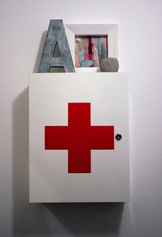 First Aid box, clearly marked